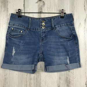!IT denim shorts Tatiana distressed cuffed sz 4